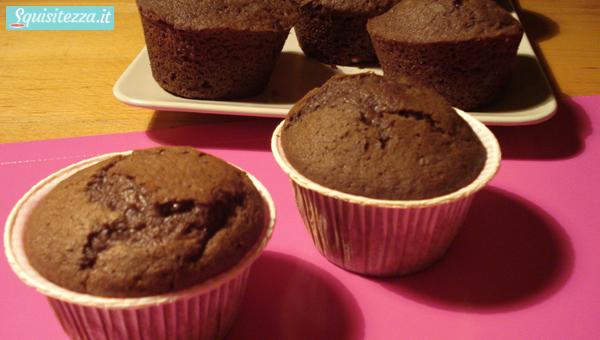 Muffin al cioccolato fondente